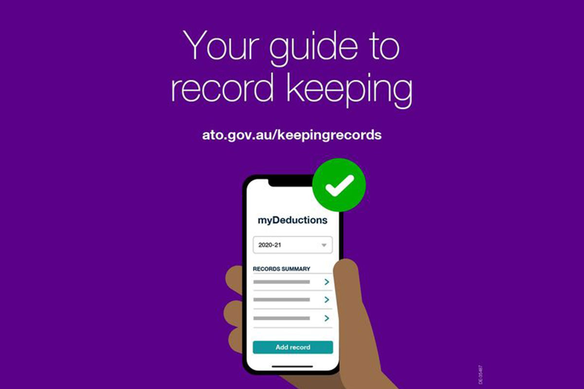 Meeting ATO guidelines for record keeping is easier for you and your Accountant with the new app MyDeductions